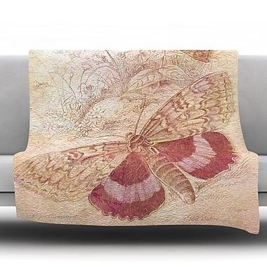 KESS InHouse Vintage Garden by Suzanne Carter Fleece Throw Blanket; 40'' H x 30'' W x 1'' D