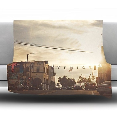 KESS InHouse Winter in Venice by Myan Soffia Micro Throw Blanket; 80'' H x 60'' W x 1'' D