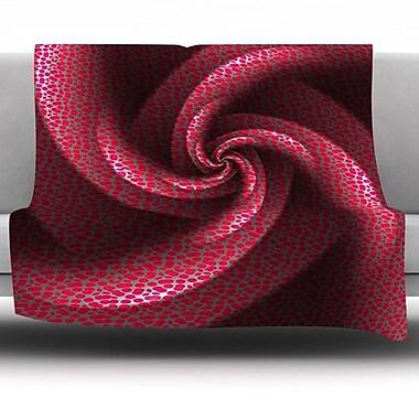 KESS InHouse Isabella's Pinwheel by Michael Sussna Fleece Throw Blanket; 40'' H x 30'' W x 1'' D