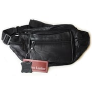 Sanmarc Genuine Leather Fanny Pack, Black, (PLTHRS103FP)