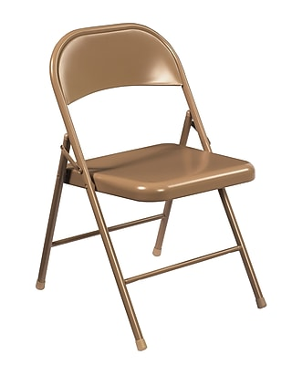 National Public Seating Commercialine All-Steel Folding Chair, Beige 100/Pack (901/100)