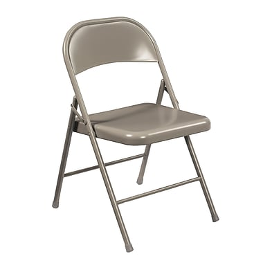 National Public Seating Commercialine All-Steel Folding Chair, Grey 52/Pack (902/52)