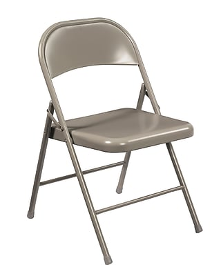 National Public Seating Commercialine All-Steel Folding Chair, Grey 4/Pack (902/4)