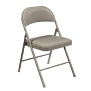 National Public Seating Commercialine Vinyl Upholstered  Folding Chair, Grey 4/Pack (952/4)