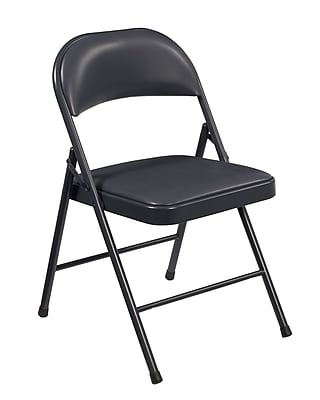 National Public Seating Commercialine Vinyl Upholstered Folding Chair, Blue 100/Pack (954/100)