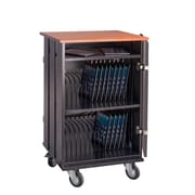 Oklahoma Sound Tablet Charging and Storage Cart with 32 Tablet Capacity , Cherry/Black (TCSC-32)
