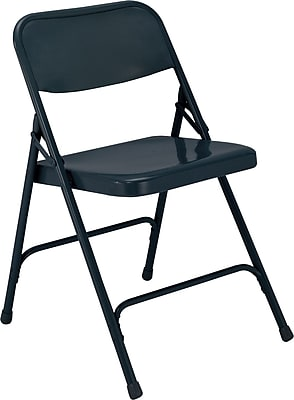 National Public Seating 200 Series All Steel Premium Folding Chair, Blue 52/Pack (204/52)