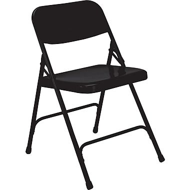 NPS® 200 Series Premium All-Steel Folding Chairs, 4/Pack