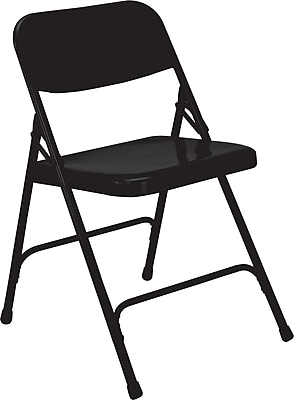 National Public Seating 200 Series All Steel Premium Folding Chair, Black 52/Pack (210/52)