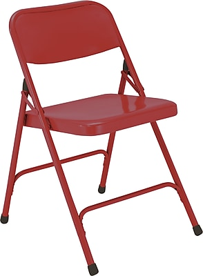 National Public Seating 200 Series All Steel Premium Folding Chair, Red 52/Pack (240/52)