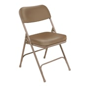 "National Public Seating 3200 Series Steel Frame 2"" Vinyl Padded Folding Chair, Beige 52/Pack (3201/52)"