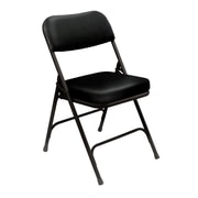 "National Public Seating 3200 Series Steel Frame 2"" Vinyl Padded Folding Chair, Black 52/Pack (3210/52)"