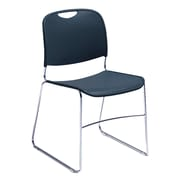 National Public Seating 8500 Series Steel Frame Compact Plastic Stack Chair, Blue 80/Pack (8505-NB/80)