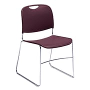 National Public Seating 8500 Series Steel Frame Compact Plastic Stack Chair, Burgundy 80/Pack (8508-NB/80)