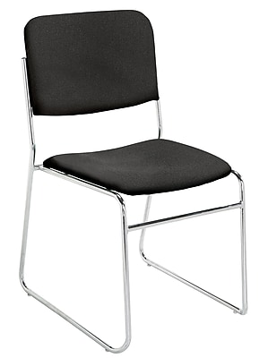 National Public Seating 8600 Series Steel Frame Fabric Stack Chair, Black 40/Pack (8660-NB/40)