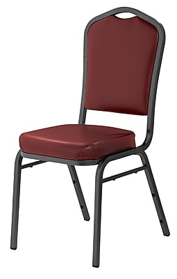 National Public Seating 9300 Series Silhouette Stack Chair Upholstered, Pleasant Burgundy 20/Pack (9308-SV-NB/20)