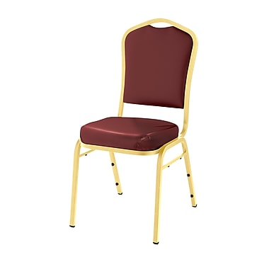 National Public Seating 9300 Series Silhouette Stack Chair Upholstered, Pleasant Burgundy 20/Pack (9308-G-NB/20)