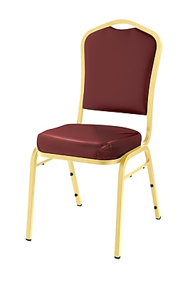 National Public Seating 9300 Series Silhouette Stack Chair Upholstered, Pleasant Burgundy 40/Pack (9308-G-NB/40)