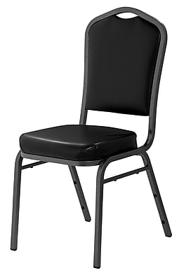 National Public Seating 9300 Series Silhouette Stack Chair Upholstered, Black 80/Pack (9310-SV-NB/80)