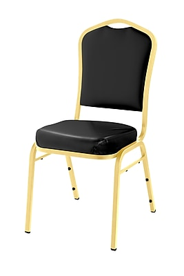 National Public Seating 9300 Series Silhouette Stack Chair Upholstered, Black 20/Pack (9310-G-NB/20)