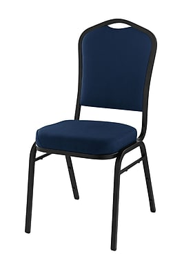 National Public Seating 9300 Series Silhouette Stack Chair Upholstered, Midnight Blue 40/Pack (9354-BT-NB/40)