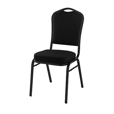 National Public Seating 9300 Series Silhouette Stack Chair Upholstered, Black 80/Pack (9360-SV-NB/80)