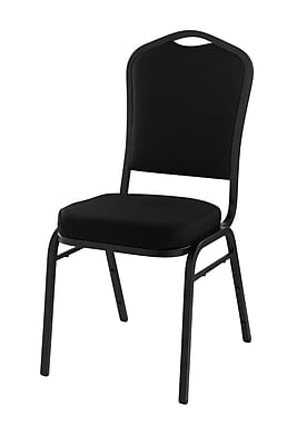 National Public Seating 9300 Series Silhouette Stack Chair Upholstered, Black 20/Pack (9360-SV-NB/20)