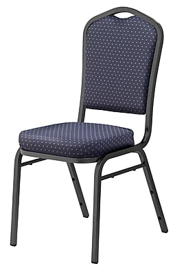National Public Seating 9300 Series Silhouette Stack Chair Upholstered, Diamond Navy 80/Pack (9364-SV-NB/80)