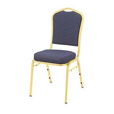 National Public Seating 9300 Series Silhouette Stack Chair Upholstered, Diamond Navy 40/Pack (9364-G-NB/40)