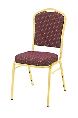 National Public Seating 9300 Series Silhouette Stack Chair Upholstered, Diamond Burgundy 20/Pack (9364-G-NB/20)