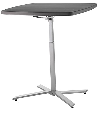 Ordinaire NPS #CTT3042 Cafe Time Adjustable HeightTable, Charcoal Slate/Silver