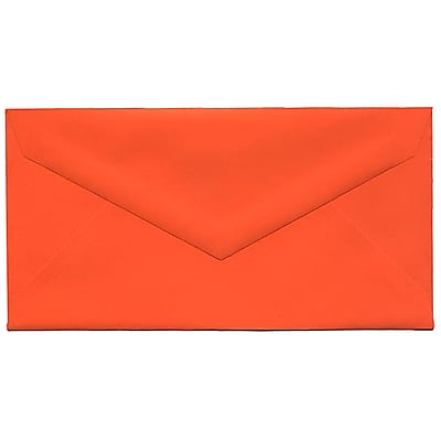JAM Paper® Monarch Envelopes, 3 7/8 x 7 1/2, Brite Hue Orange, 25/pack (34097575)