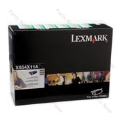 Lexmark X654X11A Return Program Toner Cartridge, Black, Extra High-Yield (X654X11A)