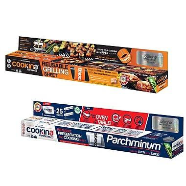 COOKINA – Ensemble de papier barbecue et de papier-parchemin