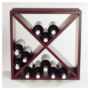 Wine Enthusiast Companies Stackable Cube 24 Bottle Tabletop Wine Rack; Mahogany
