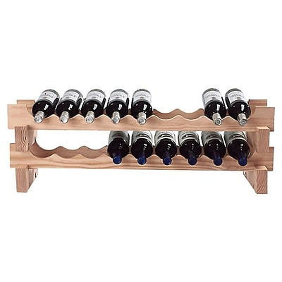 Wine Enthusiast Companies Stackable Rack 18 Bottle Tabletop Wine Rack; Natural