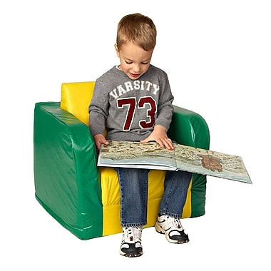 Foamnasium Pullout Kids Club Chair; Yellow and Green