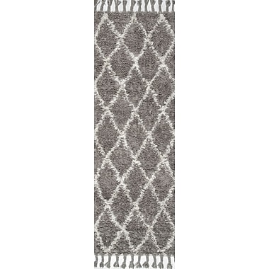 nuLOOM Gizon Hand-Knotted Gray Area Rug; Runner 2'8'' x 10'