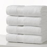Grand Patrician Bath Towel (Set of 4); Optical White