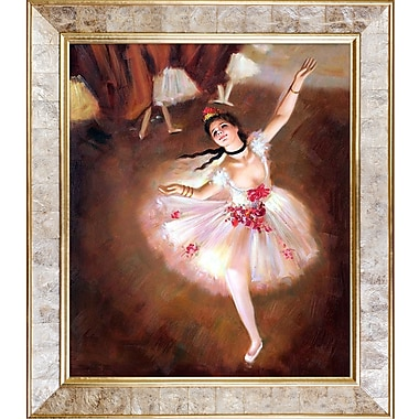 Tori Home Star Dancer on Stage by Edgar Degas Graphic Art on Canvas