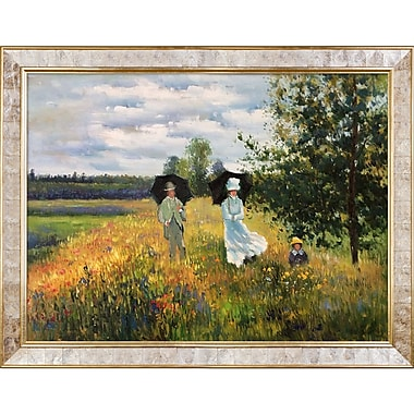 Tori Home The Promenade Near Argenteuil by Monet Painting Print on Canvas
