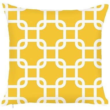 Debage Inc. Costal Geometric Throw Pillow; Yellow