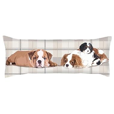 Debage Inc. Costal Exquisite Three Dogs Lumbar Pillow