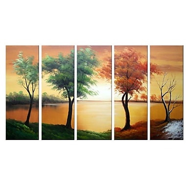 DesignArt Four Seasons on The Water 5 Piece Painting on Canvas Set