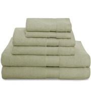 Revere Mills Montgomery 6 Piece Towel Set; Green Shadow