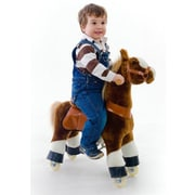 Vroom Rider X PonyCycle Ride-On Horse; Dark Brown