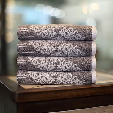 Linum Home Textiles Gioia Hand Towel (Set of 4); Vintage Brown