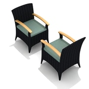 Harmonia Living Arbor Dining Arm Chair w/ Cushion (Set of 2); Canvas Spa