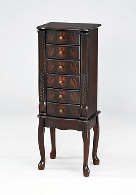 Wildon Home Elegant 40'' Jewelry Armoire w/ Mirror