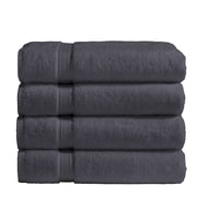 Vivendi Cotton Bath Towel (Set of 4); Gray